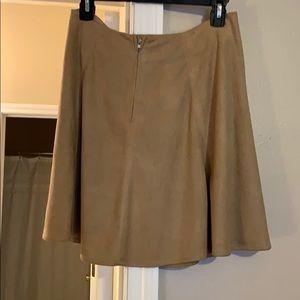 Alya Skirts - brown suede skirt